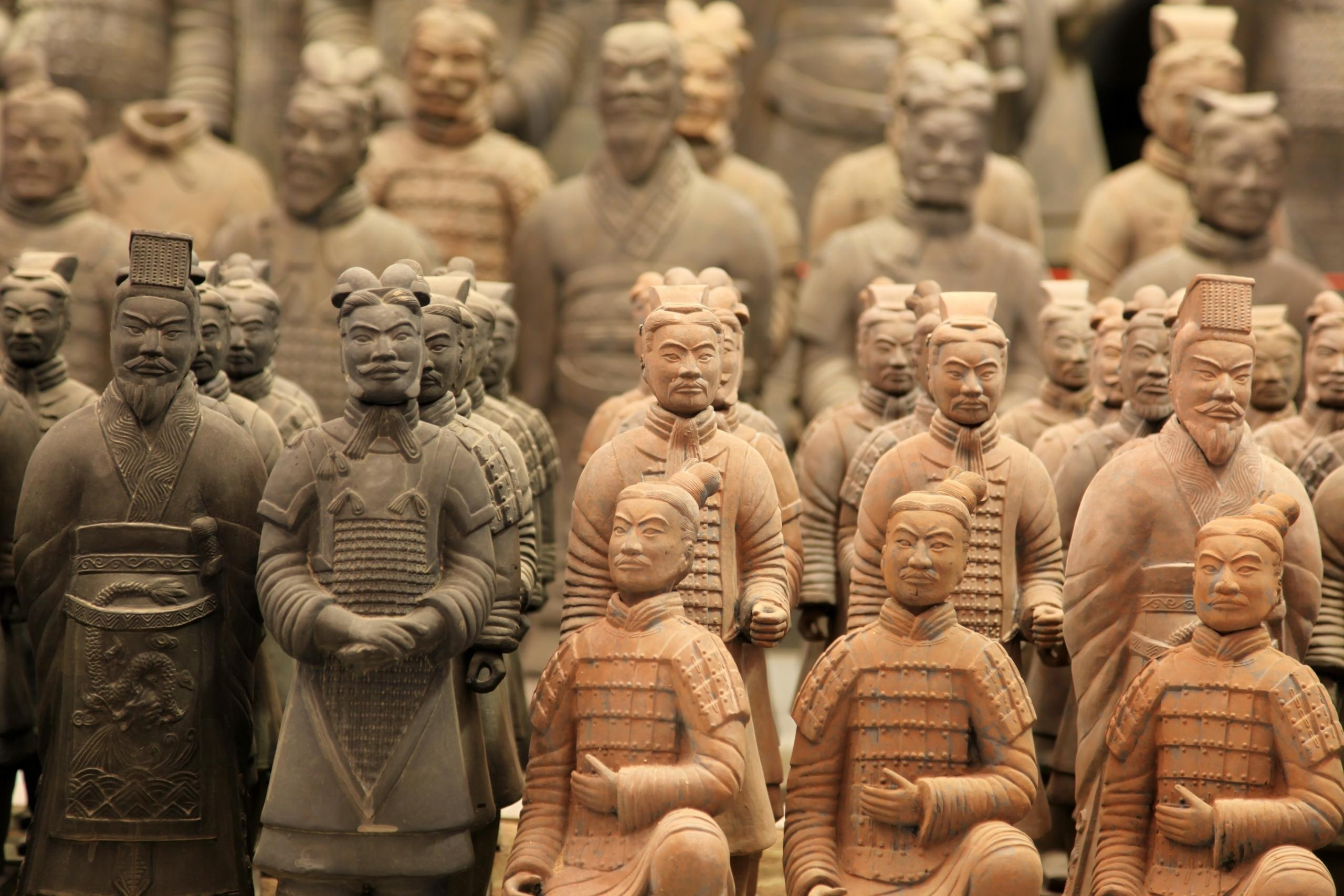famous terracotta warriors in XiAn, Qin Shi Huang's Tomb, China